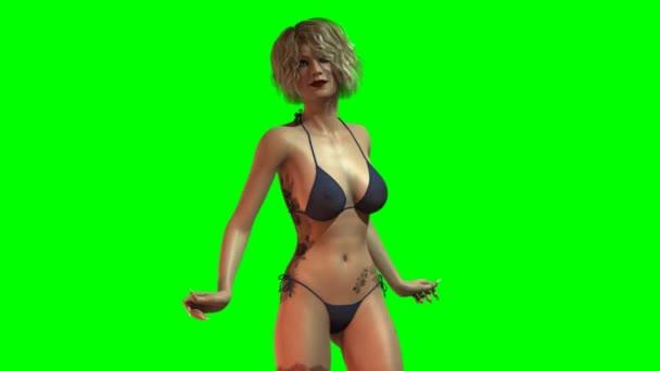 Hot sexy holka v bikinách