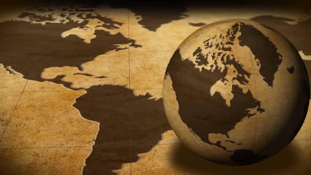 Rotující koule na mapě