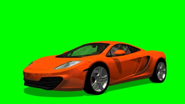 Auto na zelené obrazovce