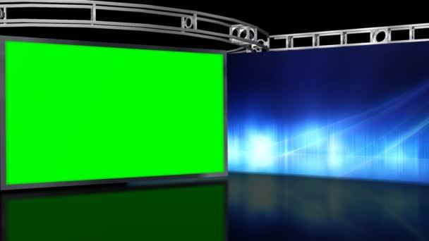 A fal zöld képernyő stúdió