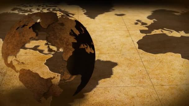 Rotierender Globus auf der Karte