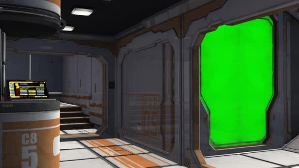 Interior of spaceship room