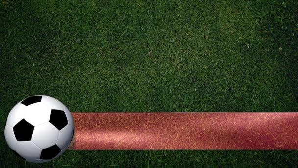 Futball-labda, zászló
