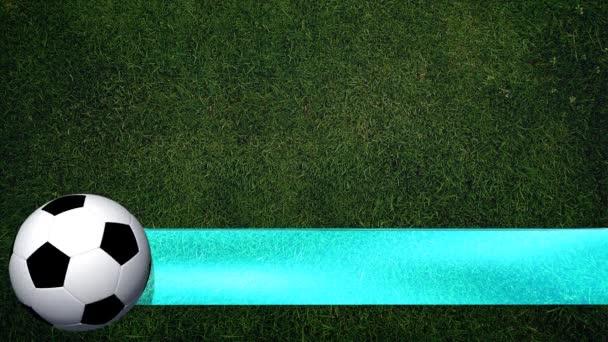 Fußball mit Banner