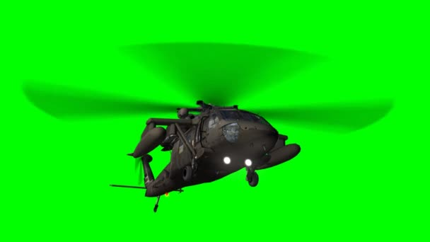Elicottero Militare Sfondo Verde Video Stock Bestgreenscreen
