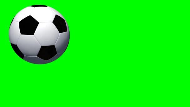 Soccer ball rotates
