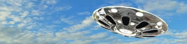UFO flying saucer in the sky