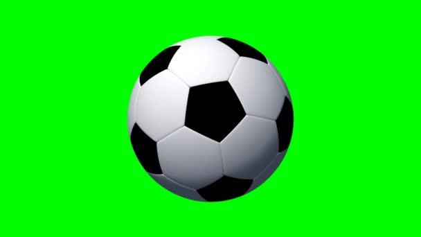 Fotbalový míč rotuje