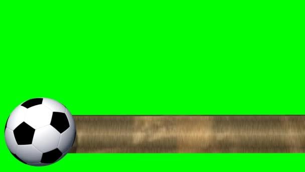 fotbalový míč s transparentem