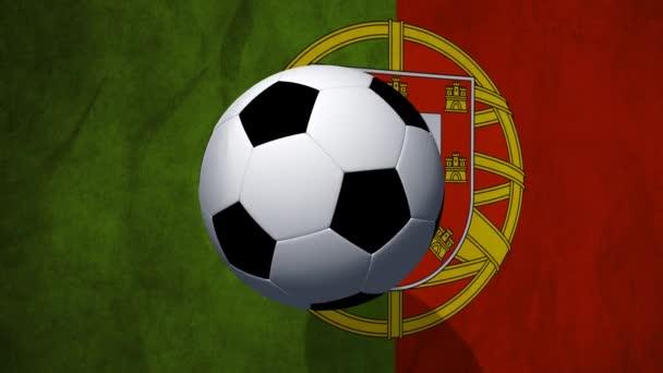 Fußball rotiert