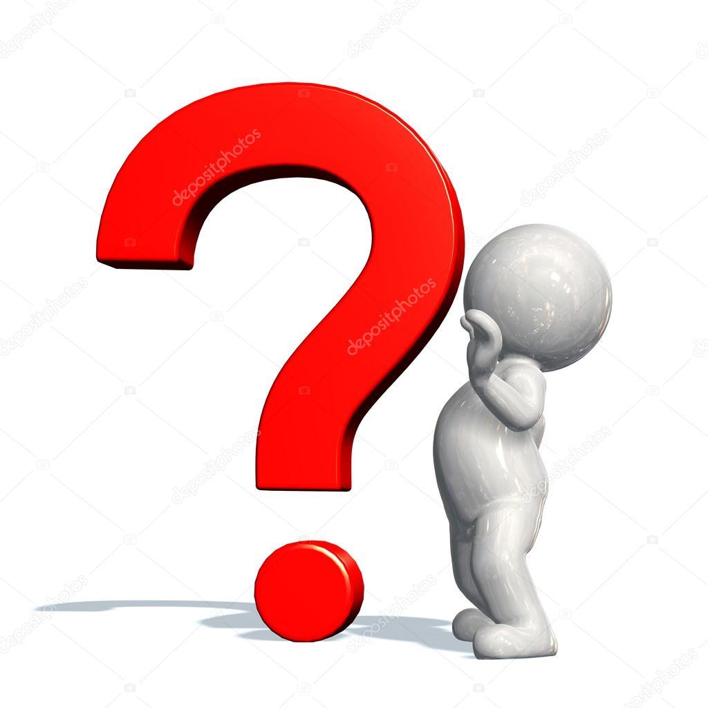 Fragezeichen und 3d person — Stockfoto © Bestgreenscreen ...