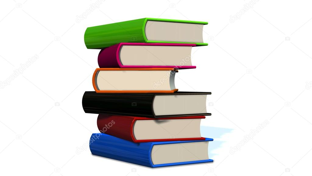 Stapel von farbigen Bücher — Stockfoto © Bestgreenscreen #87940348