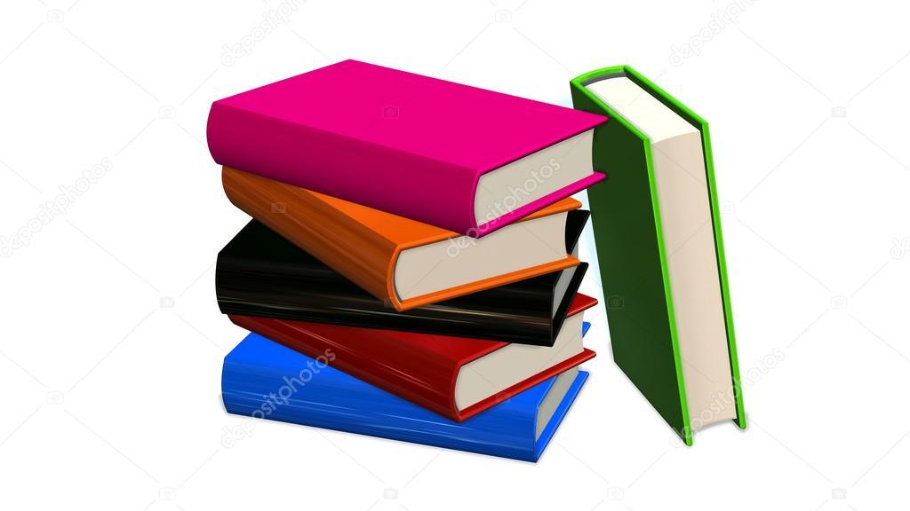 pila de libros de colores — Fotos de Stock © Bestgreenscreen #87940436