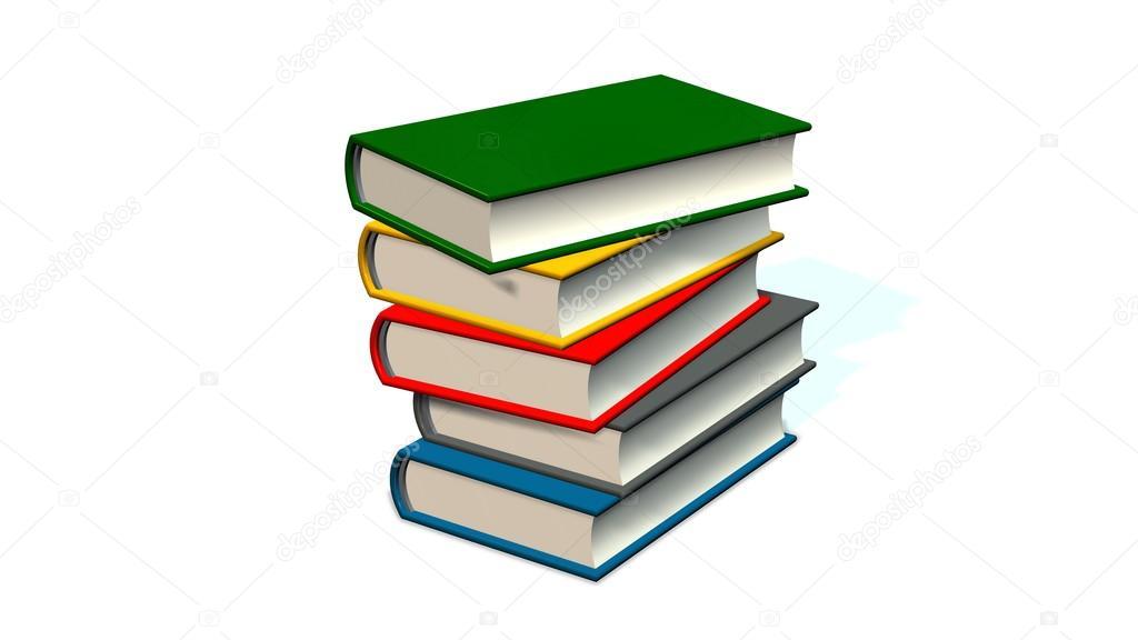 Pila de libros | pila de libros de colores — Foto de stock ...