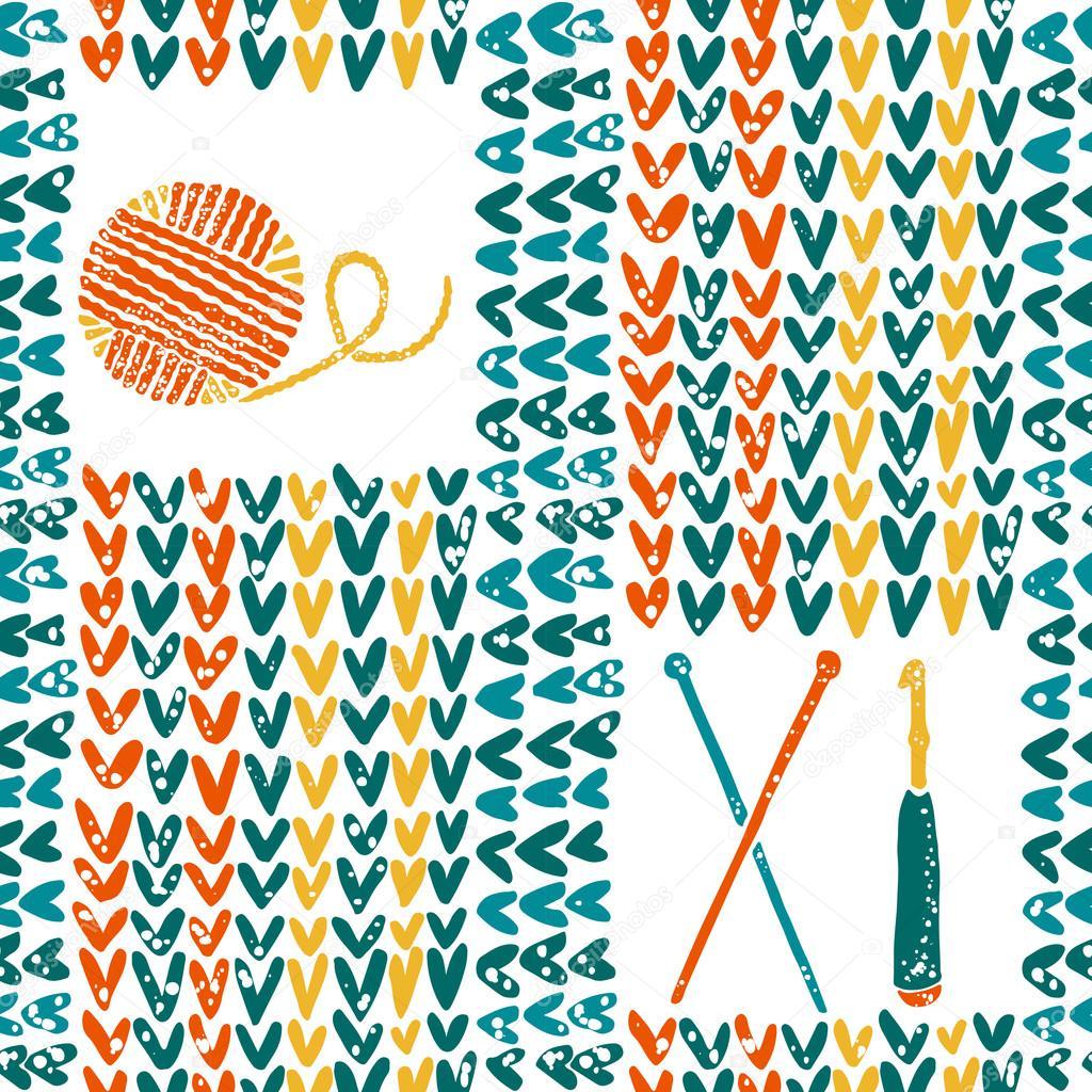 Patrón de punto con agujas, crochet y lana — Archivo Imágenes ...