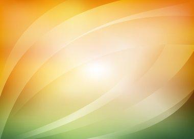 green and orange background