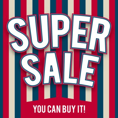 Template of super sale in American style