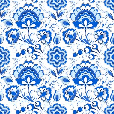 Floral seamless pattern in russian country style