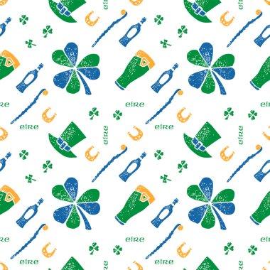 Saint Patrick seamless pattern