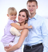 Fényképek Boldog család. Apa, anya és a gyermek
