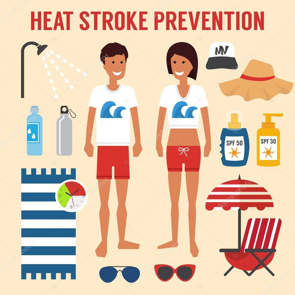 Heat sun stroke prevention.