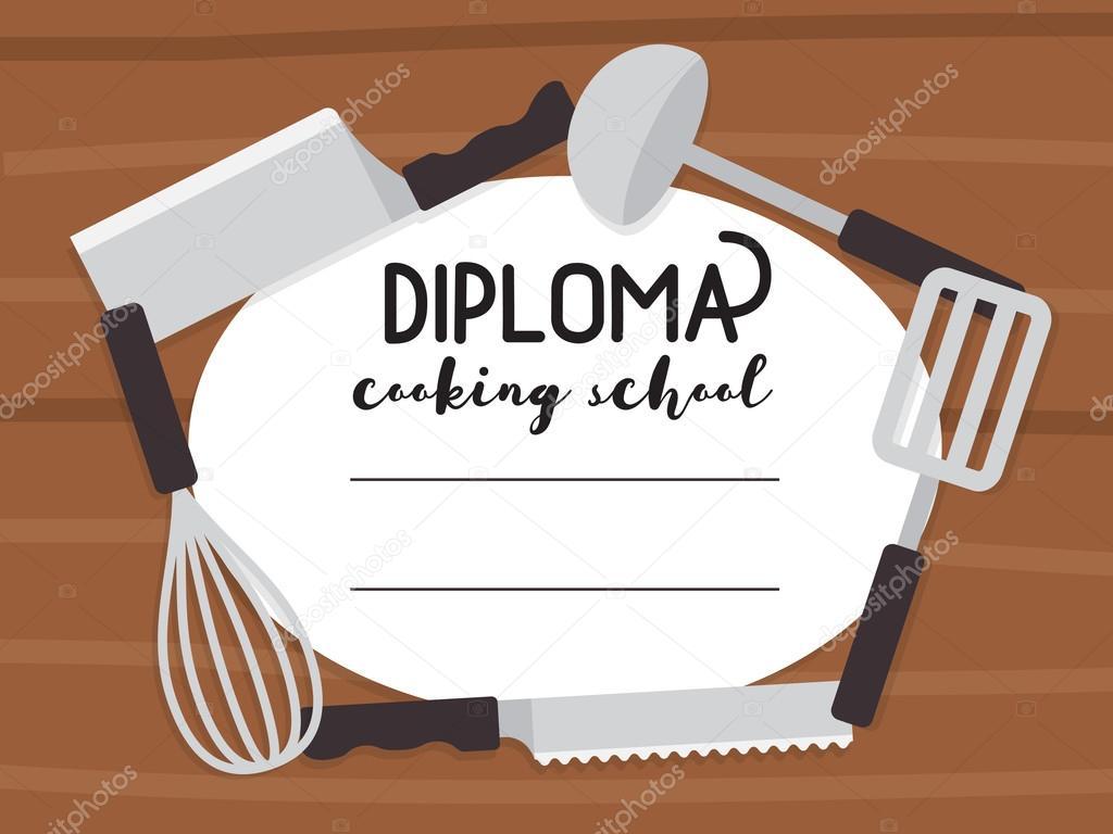 Cooking school diploma stock vector yapanda 116422442 cooking school diploma culinary class certificate vector template vector by yapanda alramifo Image collections