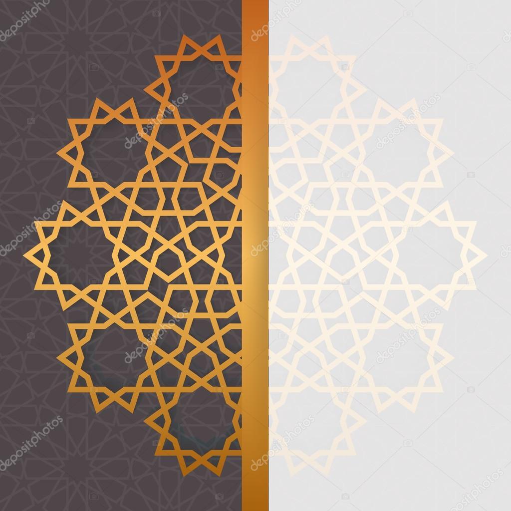 Geometric islamic pattern muslim background in arabian style geometric islamic pattern invitation eid al adha greeting card template in arabian style vector by yapanda stopboris Choice Image