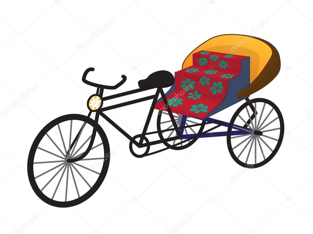 東洋三輪車人力車タクシーベクトル イラスト ストックベクター