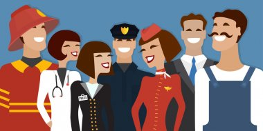 Group of people from different profession, occupation. Vector illustration