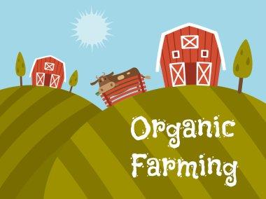 Organic Farm Products, landscape view.