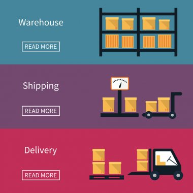 Cargo and delivery, shipping banner