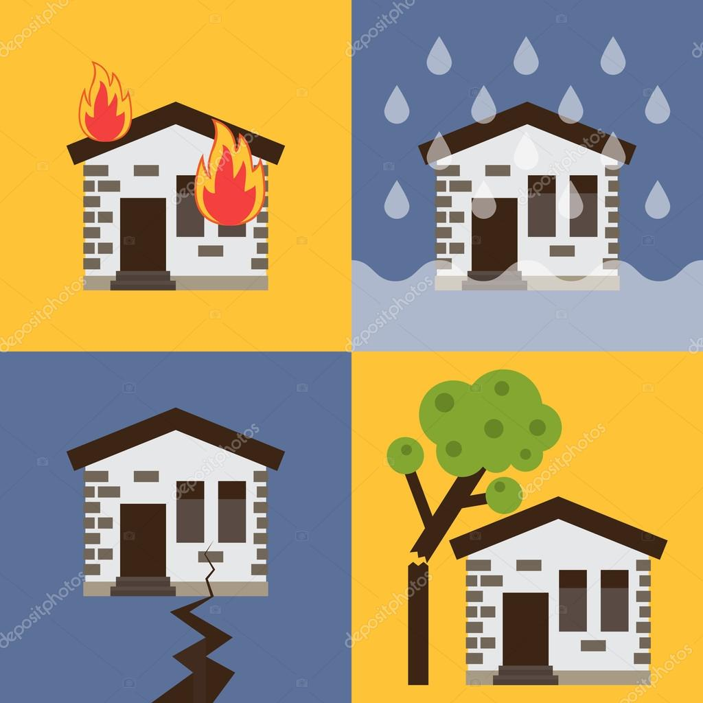 House insurance vector illustration