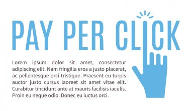 Pay per click internet advertising vector banner