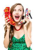 Fotografie Funny shopping woman