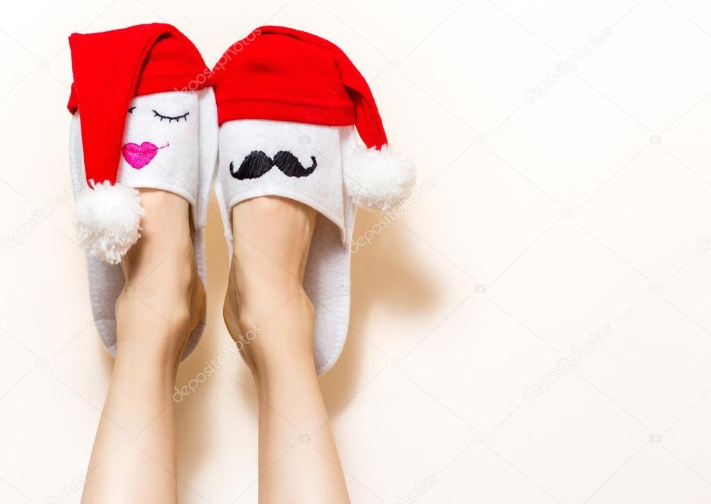 Cute christmas legs