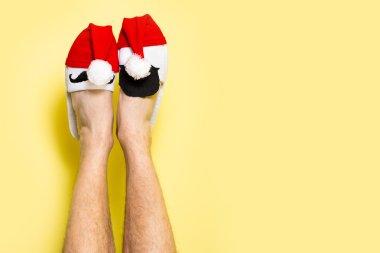 Christmas legs concept