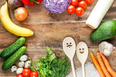 Fresh organic vegetables ane fruits