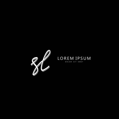 Initial SL handwriting of initial logo concept icon