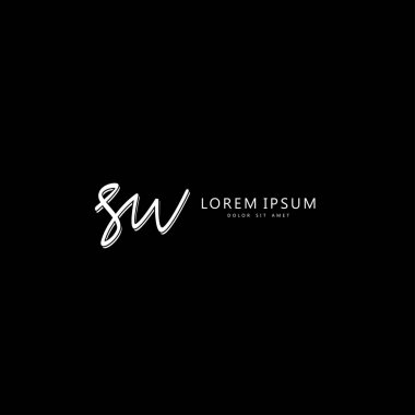Initial SW handwriting of initial logo concept icon