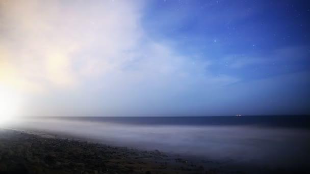 Tejút emelkedő alatt Night Seascape