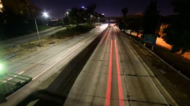 Light Trails on 110 Freeway in Downtown LA