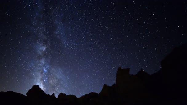 Milchstraßengalaxie durchquert Wüste