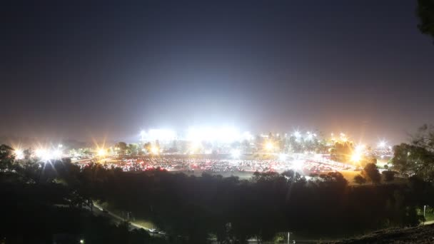 Dodger Stadium Parking Lot after the Night Game