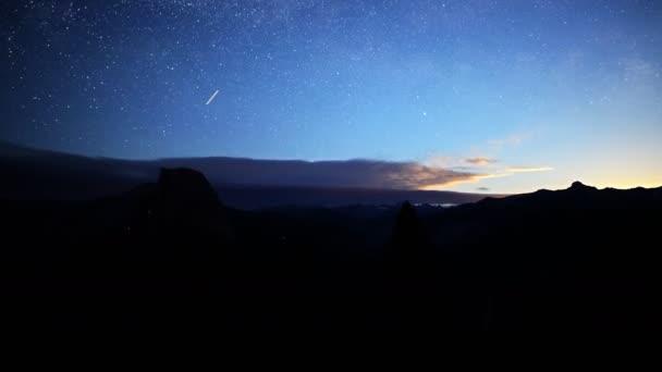 Moon Rising over Yosemite Valley