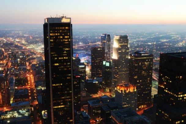 Downtown Los Angeles noční panoráma
