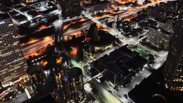 dálnici provoz v Los Angeles v noci