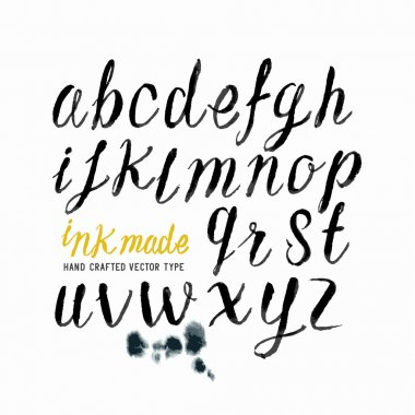 Black Ink Vector Letters
