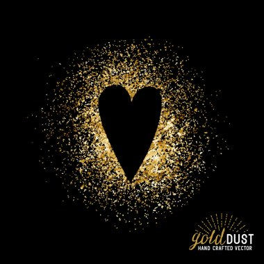 Gold Dust Love Vector