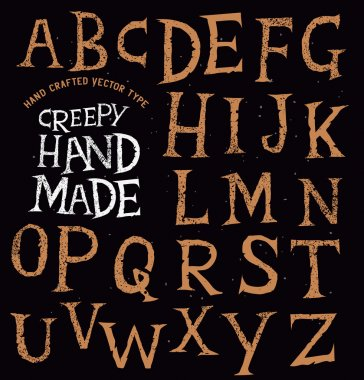 Creepy Ancient Handmade Lettering