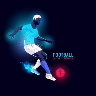 Neon Football Player Striker